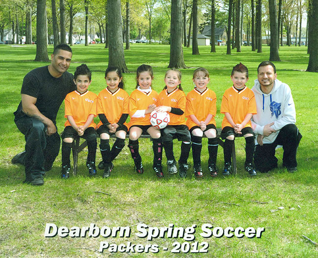 Dearborn Spring Soccer Team With Coach Mousa Ahmad