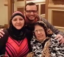 Mousa A Ahmad With Grandma And Sister